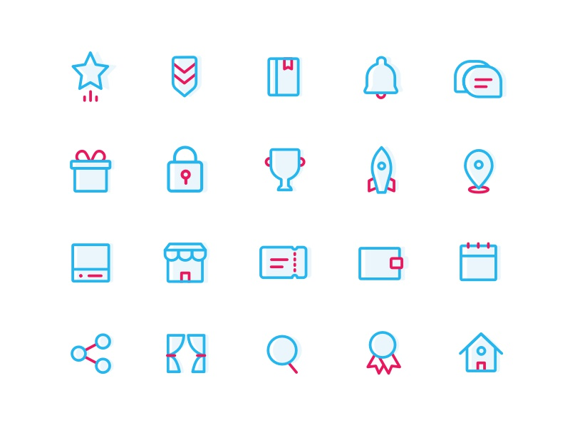 Sketch icons set - Free download free download sketch set pack pictogram icon
