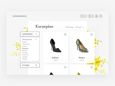 Cosmoparis - Eshop redesign