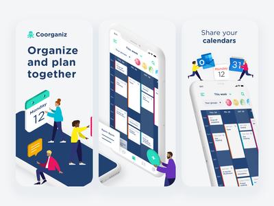 Coorganiz - Appstore screenshots