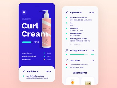 Cosmetics app concept