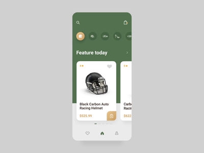 Helmet Online Store Card 3d product card detail product details commercial helmets fashion gif video motion card digital ui app animations icon dailyui app helmet