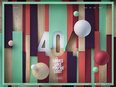 404 page 008 dailyui 3d ui error 404
