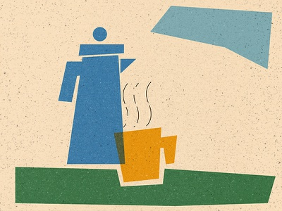 Tea or Coffee drink winter series matchbox coffee tea graphicdesign texture illustration