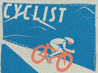 A Cyclist job sport cyclist bike jobs graphicdesign texture illustration