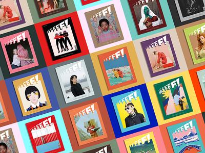 FFFFF! artdirection female magazine editorial graphicdesign illustration
