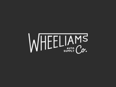 Wheeliams Logo clean design flat car identity branding vector logo graphicdesign