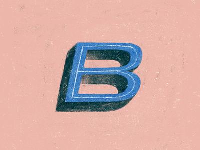 B - Alphabeticals simple typography colour flat texture design graphicdesign illustration
