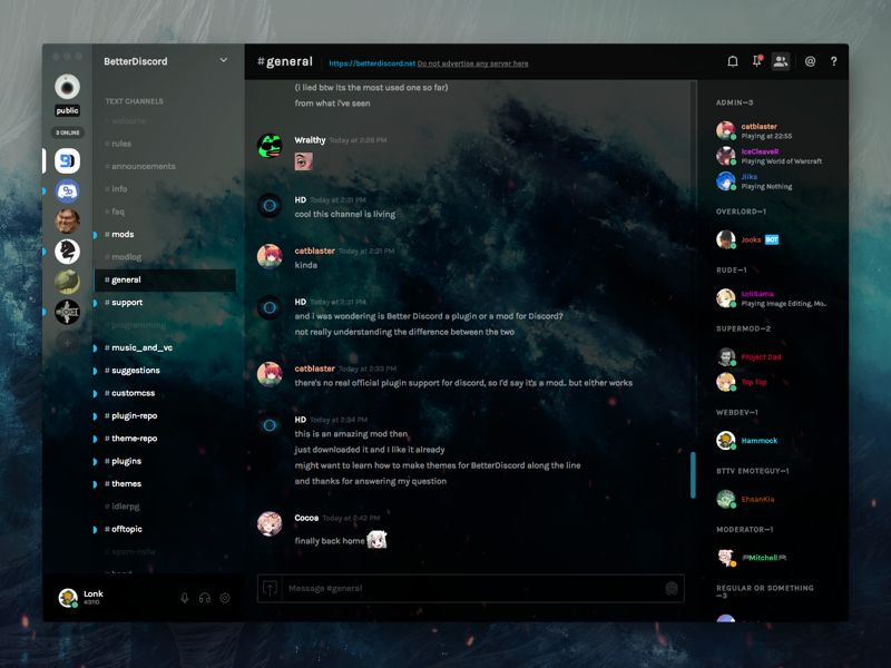 collection image wallpaper: Themes Discord