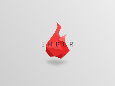 Ember red fire