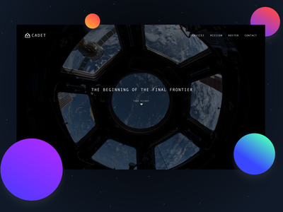 Landing page Cadet space gradients landing page