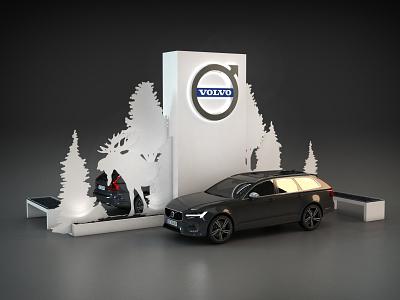 Volvo Outdoor Display R4 vray environments exhibit trade show 3dsmax