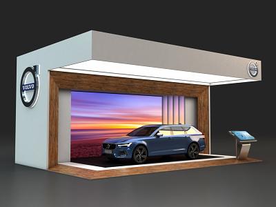 Volvo Outdoor Display R2 vray trade show exhibit design environments 3dsmax