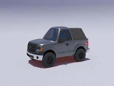 2012 F150 automotive illustration 3d render truck arnold 3dsmax 3d