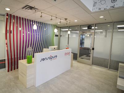 Sensapure/Dyad Reception Desk office design architechture interior design environments