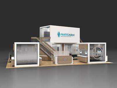 Health Catalyst 40x50 environments vray trade show exhibit design 3d