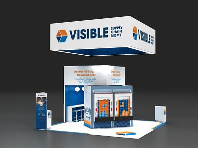 Visible SCM 20x20 trade show exhibit vray 3dsmax exhibit design environments