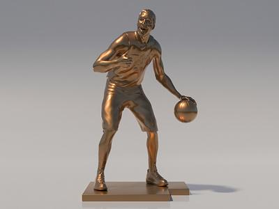 Joe Ingles Bronze Statue joe ingles statue jingled zbrush utah jazz character arnoldrender 3dsmax 3d