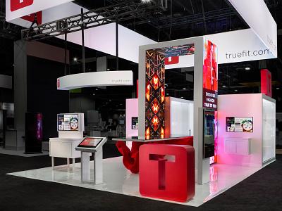 True Fit Exhibit at Shop Talk 3dsmax design exhibit trade show exhibit design