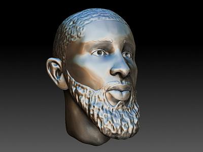 Royce O'Neale Statue utah jazz zbrush 3d sculpting character 3d