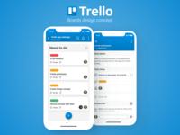 Trello project boards design concept