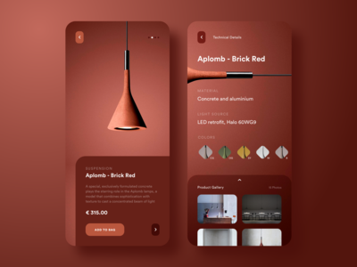 Suspension Aplomb - Brick Red (Product App Concept)