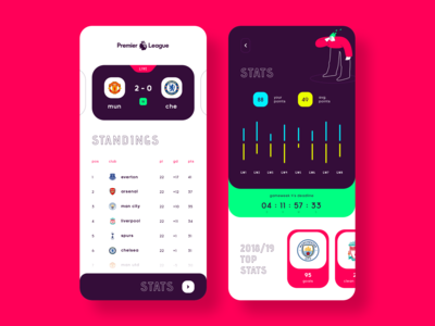 Premier League - UI Exploration