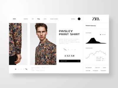 Zara - Web UI Exploration