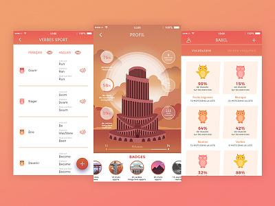 Babel Project learning app design mobile