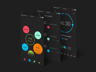 Early Game Alarm flat design alarm clock minimal color clean ux mobile app ios