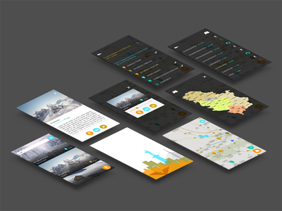 Designing with real data ux issues real data tourist app audio guide ui ux design mobile ios android