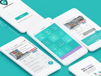 Colaboradores App interface ui design app mobile