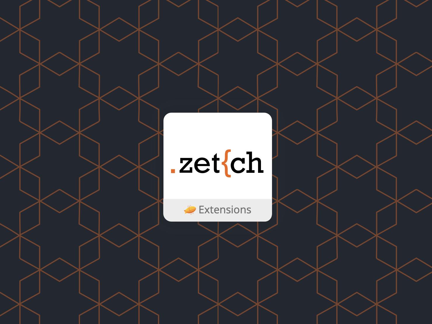 Zetch a Zeplin extension brand zeplin
