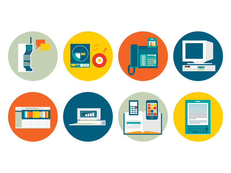some technology icons by huilin dai on dribbble