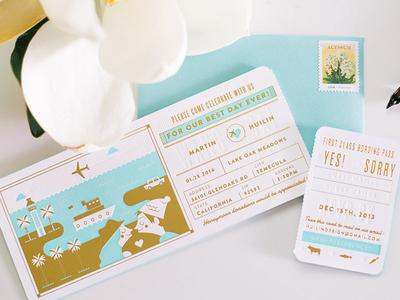My Wedding Invitation wedding invitation letterpress
