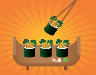 Another St. Patrick Sushi Idea