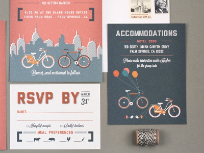 Love City Life city life urban hipster bicycle bikes wedding invitation save the date