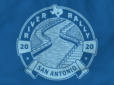 River Rally Conference Shirt illustration commemorative riverwalk water texas san antonio tee tshirt shirt event conference river