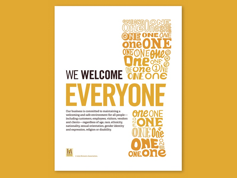 We Welcome Everyone poster hand lettering handlettering everyone welcome craft craftbeer diversity diverse inclusivity inclusive brewery brewer beer