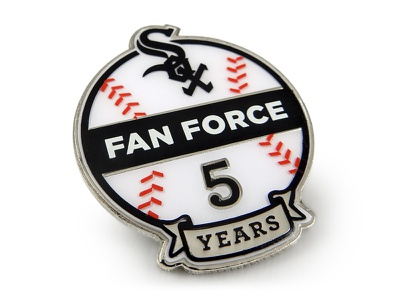 Chicago White Sox Fan Force Years Of Service Pin years service chicago ribbon laces pin mlb baseball white sox sports