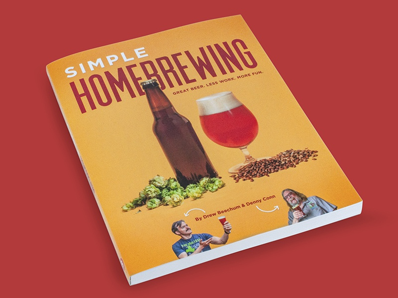 Simple Homebrewing drinking drink simple layout publication book malt barley hops craftbeer craft beer brewing home homebrewing