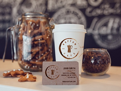 Koffum brand store sale logo coffee caffee cafe