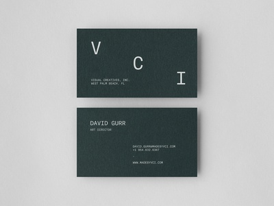 VCI Business Card Design