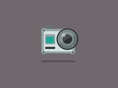 Camera       minimalism gray shadow flare lens equipment action camera camera