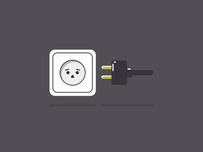 Frightened socket               eyes eyebrows glare gray shadow minimalist cable wire jack face plug socket