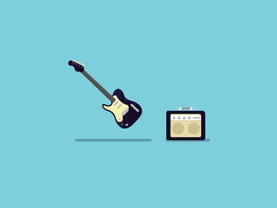 Guitar                minimalism blue shadow musical instruments guitar music amp electric guitar