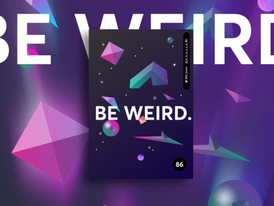 be weird light dark blue poster geometry weird