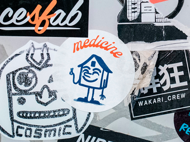 Medicine urban sticker quarantine character design staysafe stayhome home icon logotype theroboto illustration