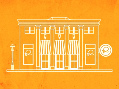 Rivers and Glen Store Front Illustrations