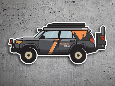Mountain State Overland Rig Illustration