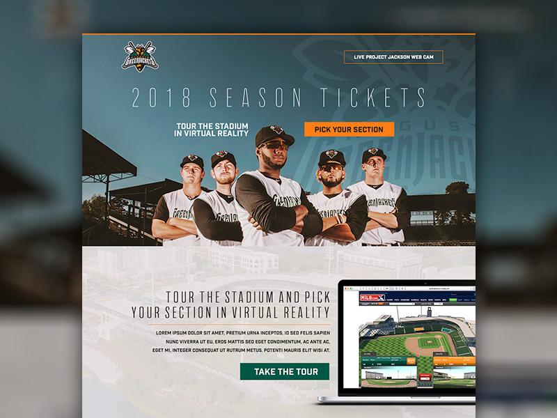 Landing Page Mockup mockup baseball landing page website